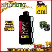 KIT TAGLIANDO 5LT OLIO ENI I-RIDE 10W60 TOP SYNTHETIC TRIUMPH 955 Tiger 955CC 2001-2004 + FILTRO OLIO HF191