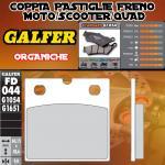 FD044G1054 PASTIGLIE FRENO GALFER ORGANICHE ANTERIORI MZ/MuZ SILVER STAR 93-