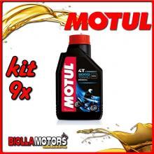 KIT 9X LITRO OLIO MOTUL 3000 4T 10W40 MINERALE PER MOTORI 4T - 9x 107672