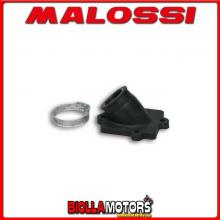 0213661B COLLETTORE ASPIRAZIONE MALOSSI RACING D. 22 - 24,5 ITALJET DRAGSTER 50 2T LC LUNGHEZZA 29 INCLINATO IN FKM -