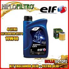 KIT TAGLIANDO 4LT OLIO ELF CITY 10W40 YAMAHA WR400 F 400CC 1999-2001 + FILTRO OLIO HF142