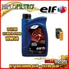 KIT TAGLIANDO 3LT OLIO ELF MOTO TECH 10W50 KTM 400 EXC 400CC 2008-2011 + FILTRO OLIO HF652