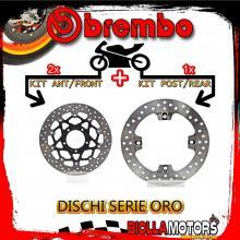 BRDISC-4226 KIT DISCHI FRENO BREMBO MV AGUSTA BRUTALE S 2001-2006 750CC [ANTERIORE+POSTERIORE] [FLOTTANTE/FISSO]