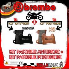 BRPADS-965 KIT PASTIGLIE FRENO BREMBO MALAGUTI F18 PROJECT 2000- 125CC [ORGANIC+XS] ANT + POST