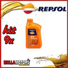 KIT 9X LITRO OLIO REPSOL MOTO SINTETICO 4T 10W40 1LT - 9x REPSOL20