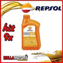 KIT 9X LITRO OLIO REPSOL MOTO TOWN 2T 1LT - 9x RP151X51