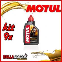 KIT 9X LITRO OLIO MOTUL SCOOTER POWER 4T 5W40 MA 100% Sintetico PER MOTORI 4T - 9x 105958