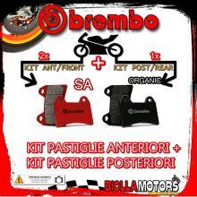 BRPADS-48544 KIT PASTIGLIE FRENO BREMBO SACHS ROADSTER 2000- 800CC [SA+ORGANIC] ANT + POST