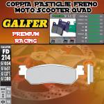 FD214G1651 PASTIGLIE FRENO GALFER PREMIUM POSTERIORI MINELLI OMEGA 125 06-