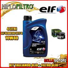 KIT TAGLIANDO 4LT OLIO ELF CITY 10W40 YAMAHA FZS600 Fazer 5DM,5RT 600CC 1998-2003 + FILTRO OLIO HF147