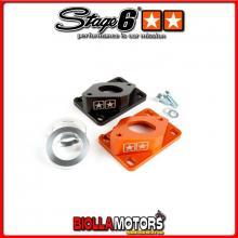 S6-3318812/BK Collettore Aspirazione Stage6 R/T High Flow 28mm Elipse Derbi / AM6 nero (EBS050) STAGE6 RT