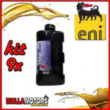 KIT 9X LITRO OLIO ENI FORK OIL 10W FORCELLA - 9x E142791