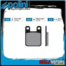 174.0015 PASTIGLIE FRENO POLINI ANTERIORE KTM SX 60 60CC 1998-1999 ORGANICA FORRACE