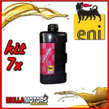 KIT 7X LITRO OLIO ENI FORK OIL 15W FORCELLA - 7x E142891