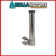 0800043 PORTACANNE TUBE CLAMP D40 INOX Supporto Portacanne Inox con Morsetto Tubo