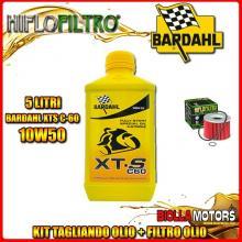 KIT TAGLIANDO 5LT OLIO BARDAHL XTS 10W50 YAMAHA FJ1100 1100CC 1984-1986 + FILTRO OLIO HF401