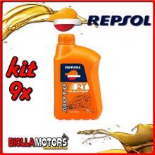 KIT 9X LITRO OLIO REPSOL MOTO RACING 2T 1LT - 9x RP145P51IT