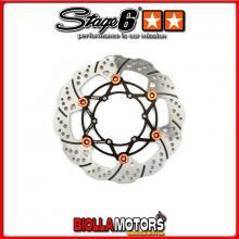 S6-1218805 Disco Freno Flottante anteriore 260mm Stage6 R/T DERBI Senda DRD X-Treme 50 R '10 - '17 - (D50B0 Euro 3) STAGE6 RT