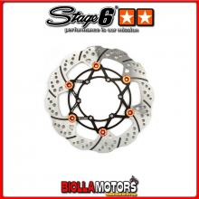 S6-1218805 Disco Freno Flottante anteriore 260mm Stage6 R/T DERBI gpr 50cc racing von '05 prima del '11 (d50b0 euro3) STAGE6 RT