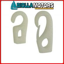0332804 GANCETTO WHITE D4 Gancetti Classici Bianchi per Elastici