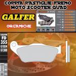 FD355G1054 PASTIGLIE FRENO GALFER ORGANICHE ANTERIORI MBK MOTOBEKANE SKYCRUISER 06-09