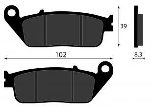 RBP571 PASTIGLIE FRENO ORGANICHE ANTERIORE YAMAHA WWR R 125CC 2009-2013 3D7 W0045 10