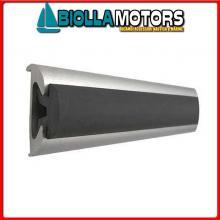 3833537 GIUNTO PROFILI ALU 37 BLACK Bottazzo Profilo Parabordo con Supporto in Alluminio Anodizzato