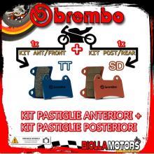BRPADS-27037 KIT PASTIGLIE FRENO BREMBO HIGHLAND MX 2006- 450CC [TT+SD] ANT + POST
