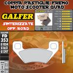 FD353G1397 PASTIGLIE FRENO GALFER SINTERIZZATE POSTERIORI ARCTIC CAT 1000 WILDCAT 1000i H.D. 12-
