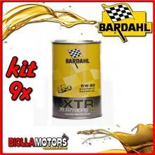KIT 9X LITRO OLIO BARDAHL XTR C60 RACING 39.67 5W50 1LT - 9x 306039