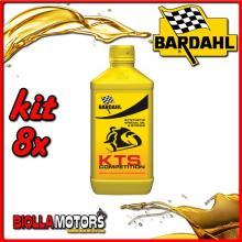 KIT 8X LITRO OLIO BARDAHL KTS SCOOTER RACING COMPETITION LUBRIFICANTE PER MOTO 2T BARDAHL - 8x220041
