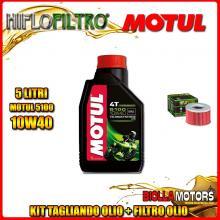 KIT TAGLIANDO 5LT OLIO MOTUL 5100 10W40 HONDA TRX650 FA Fourtrax Rincon 650CC 2003-2005 + FILTRO OLIO HF111
