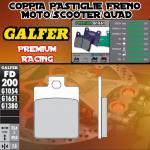 FD200G1651 PASTIGLIE FRENO GALFER PREMIUM ANTERIORI DERBI SONAR 10-