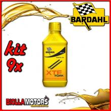 KIT 9X 500ML OLIO BARDAHL XTF FORK SPECIAL OIL 5W OLIO PER FORCELLA 1/2 LT - 9x 440032