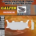 FD169G1054 PASTIGLIE FRENO GALFER ORGANIC ANTERIORI MOTOM TRANSCITY 07-