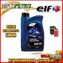 KIT TAGLIANDO 4LT OLIO ELF MAXI CITY 5W40 KTM 640 Duke 1st Oil Filter 640CC 1999-2006 + FILTRO OLIO HF155