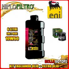 KIT TAGLIANDO 6LT OLIO ENI I-RIDE 10W60 TOP SYNTHETIC KAWASAKI VN2000 A1-A2,A6F Vulcan 2000CC 2004-2006 + FILTRO OLIO HF204