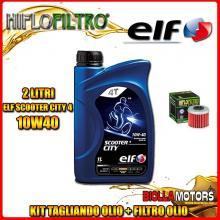 KIT TAGLIANDO 2LT OLIO ELF CITY 10W40 HUSQVARNA TC250 250CC 2009-2013 + FILTRO OLIO HF116