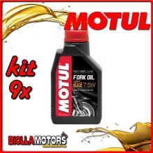 KIT 9X LITRO OLIO MOTUL FORK OIL FACTORY LINE LIGHT/MEDIUM 7.5W FORCELLA - 9x 105926
