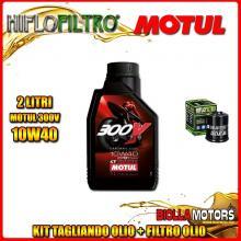 KIT TAGLIANDO 2LT OLIO MOTUL 300V 10W40 PIAGGIO 125 Beverly GT / Rst / Sport / MIC / Tourer 125CC 2001-2011 + FILTRO OLIO HF183