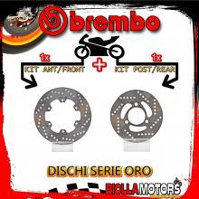 BRDISC-1702 KIT DISCHI FRENO BREMBO MOTOR UNION MAXI 1999- 125CC [ANTERIORE+POSTERIORE] [FISSO/FISSO]