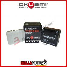 E07058 BATTERIA OKYAMI YTX12-BS SIGILLATA CON ACIDO YTX12BS MOTO SCOOTER QUAD CROSS