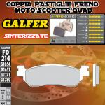 FD214G1380 PASTIGLIE FRENO GALFER SINTERIZZATE POSTERIORI MINELLI OMEGA 125 06-
