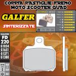 FD220G1380 PASTIGLIE FRENO GALFER SINTERIZZATE POSTERIORI MALAGUTI MADISON 3 250 i.e. 07-
