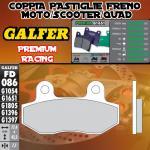 FD086G1651 PASTIGLIE FRENO GALFER PREMIUM POSTERIORI KASEA SKYHAWK 250 03-