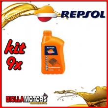 KIT 9X LITRO OLIO REPSOL MOTO TRANSMISIONES 10W40 1LT - 9x RP173X51IT
