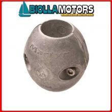 5151055 ANODO COLLARE ALU ASSE STD D55 Bracciali in Alluminio per Assi Elica