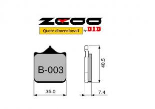 45B00300 COPPIA PASTIGLIE RACING ZCOO (B003 EX) MV AGUSTA B4 BRUTALE 910 R 2005-2008