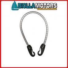 3173010 ELASTICO STD L100 BLACK HOOK Elastici con 2 Ganci in Nylon