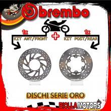 BRDISC-1663 KIT DISCHI FRENO BREMBO MALAGUTI MADISON 2005- 400CC [ANTERIORE+POSTERIORE] [FISSO/FISSO]